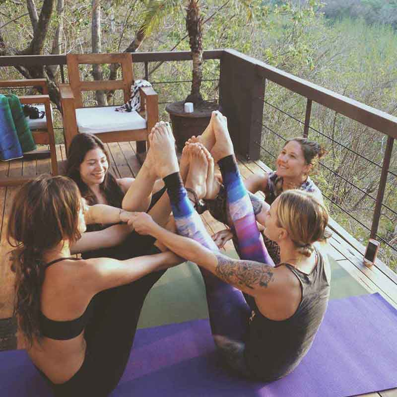 yoga girls vacation