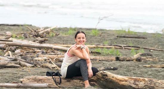 beach training yoga