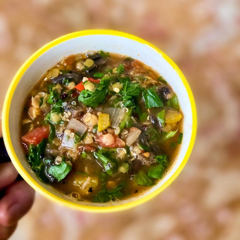 Yoga Recipes Vegan Lentil Quinoa Soup